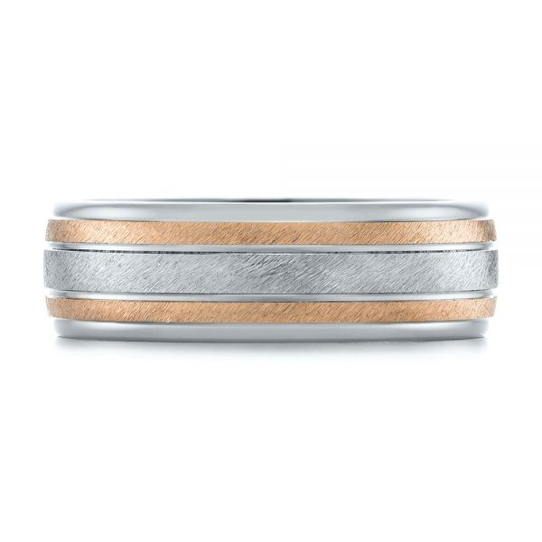 14K Men's Wedding Band - Top View -  103964 - Thumbnail