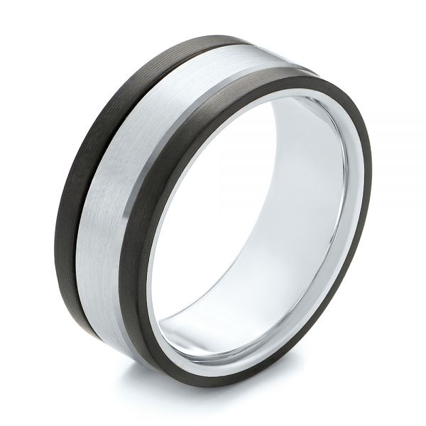 Men's Wedding Band - Three-Quarter View -