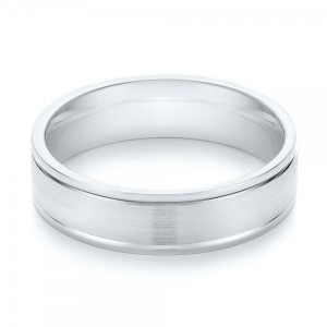 Brushed Men's Wedding Band
