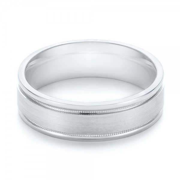 Brushed Men's Wedding Band - Laying View