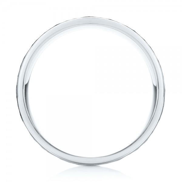 Men's Wedding Band - Finger Through View