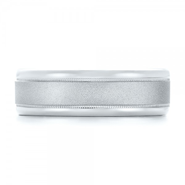 Sandblasted Men's Wedding Band - Top View
