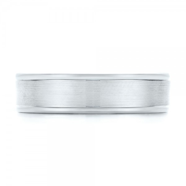 Brushed Men's Wedding Band - Top View
