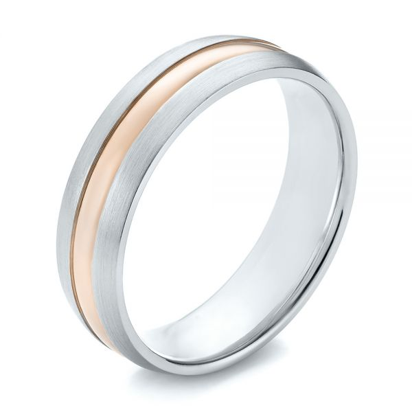Men's Wedding Ring - Three-Quarter View -  103800 - Thumbnail