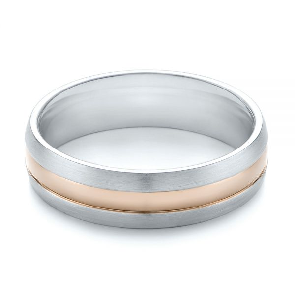Men's Wedding Ring - Flat View -  103800 - Thumbnail