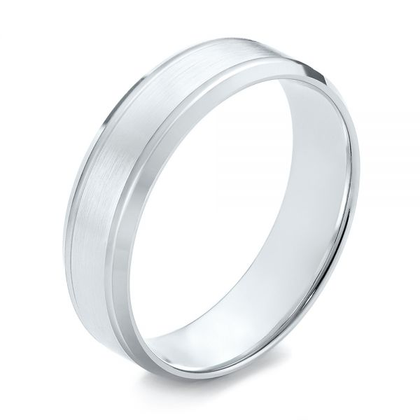 Men's Wedding Ring - Three-Quarter View -  103786 - Thumbnail