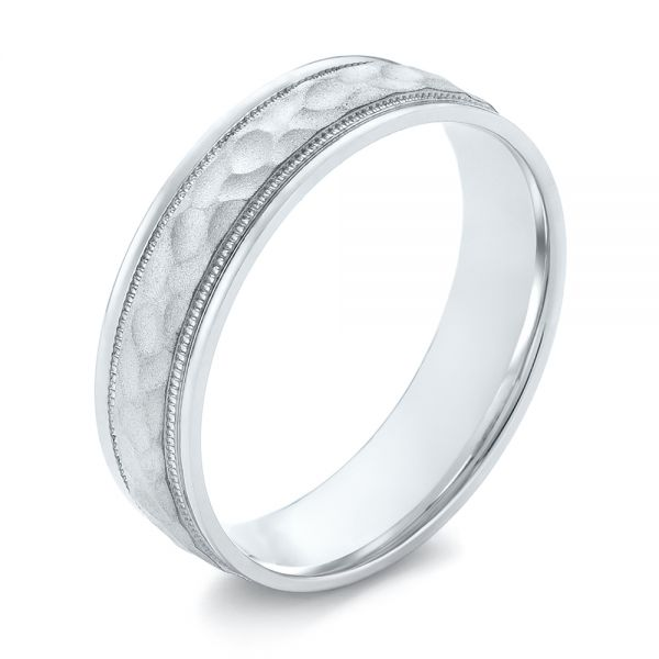 Men's Wedding Ring - Three-Quarter View -  103821 - Thumbnail