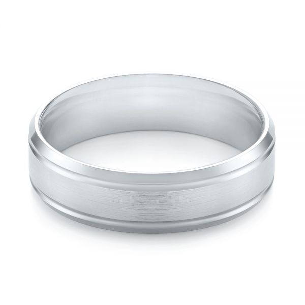 Men's Wedding Ring - Flat View -  103786 - Thumbnail