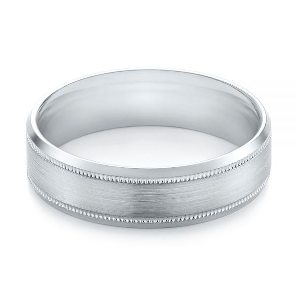 Men's Wedding Ring - Flat View -