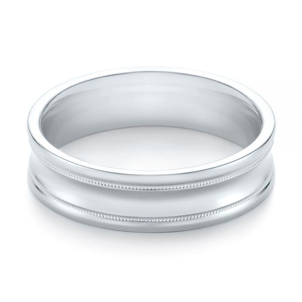 Men's Wedding Ring - Flat View -  103886