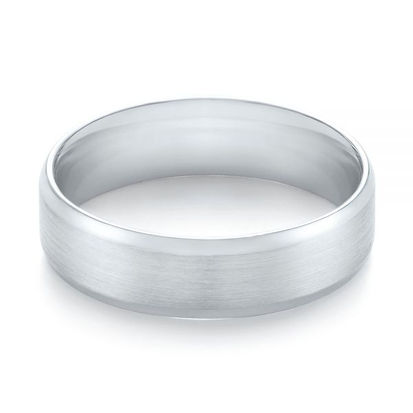 White Gold Men's Wedding Ring - Flat View -  103890