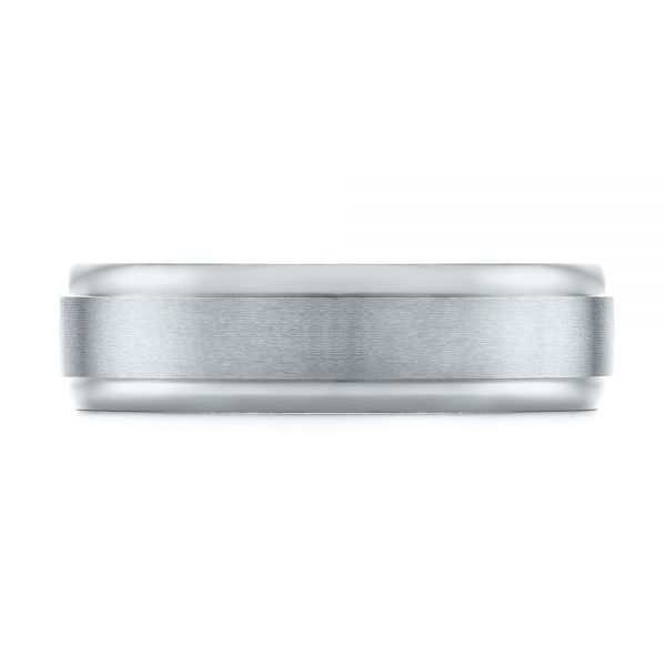 Men's Wedding Ring - Top View -  103792 - Thumbnail