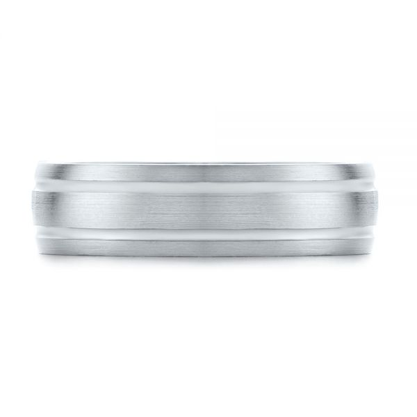 Mens Wedding Ring - Top View -