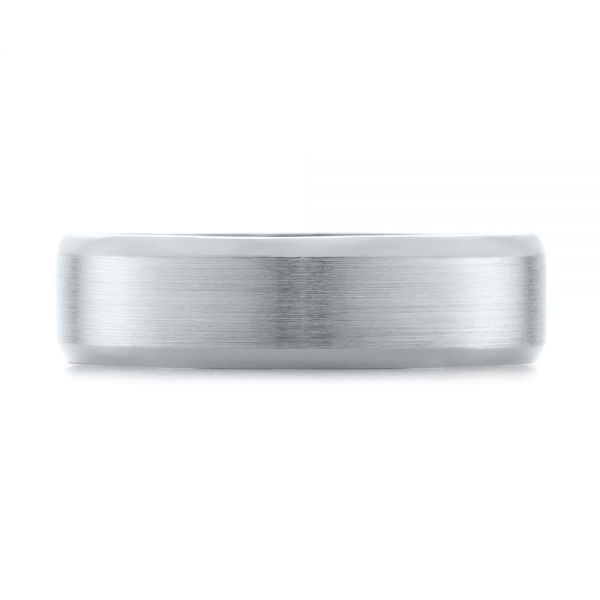 White Gold Men's Wedding Ring - Top View -  103890