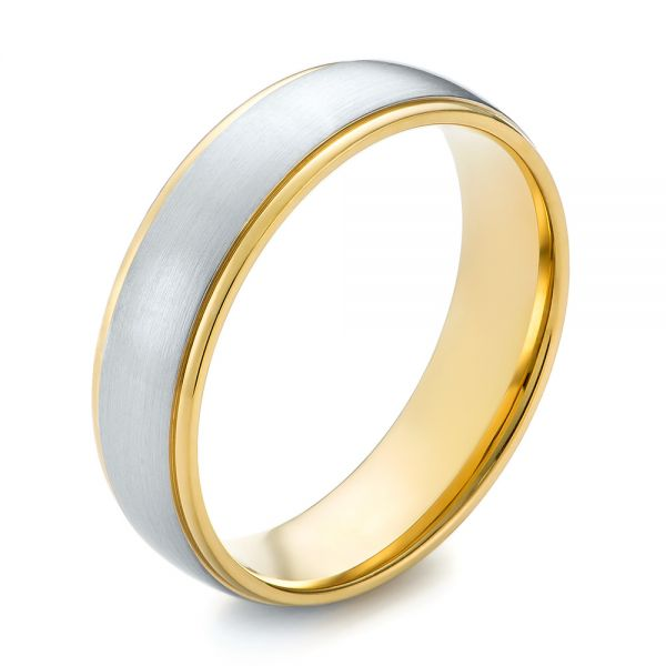 Men's Wedding Ring - Three-Quarter View -  103811 - Thumbnail