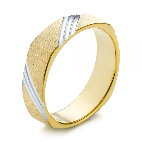 Men's Wedding Ring - Three-Quarter View -  103812 - Thumbnail
