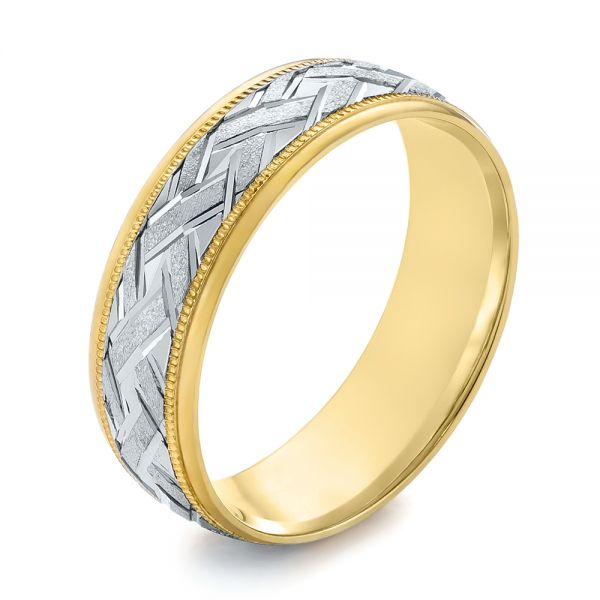 Men's Wedding Ring - Three-Quarter View -  103960