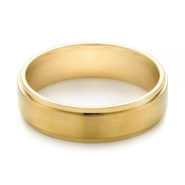 Men's Wedding Ring - Flat View -  103805 - Thumbnail