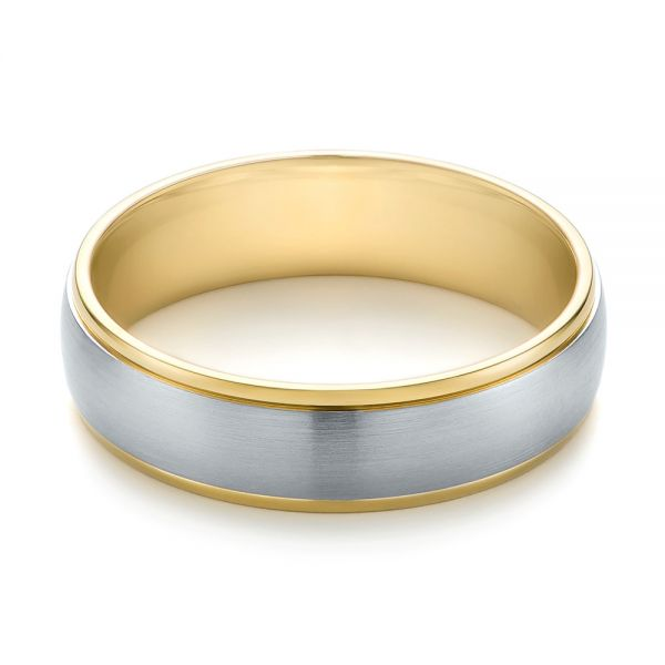 Men's Wedding Ring - Flat View -  103811 - Thumbnail