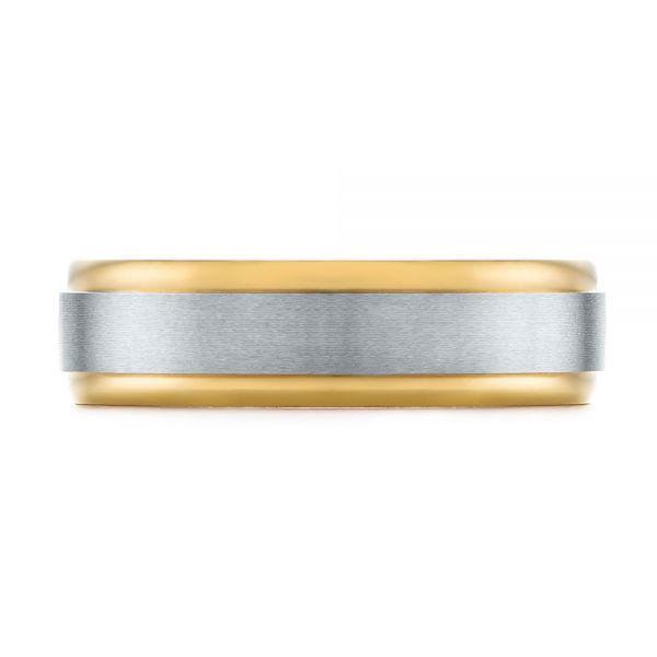 Men's Wedding Ring - Top View -  103790 - Thumbnail