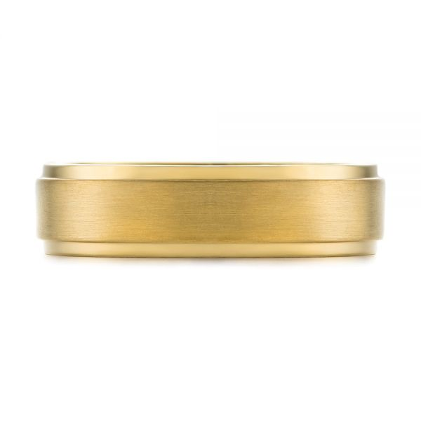Men's Wedding Ring - Top View -  103805 - Thumbnail