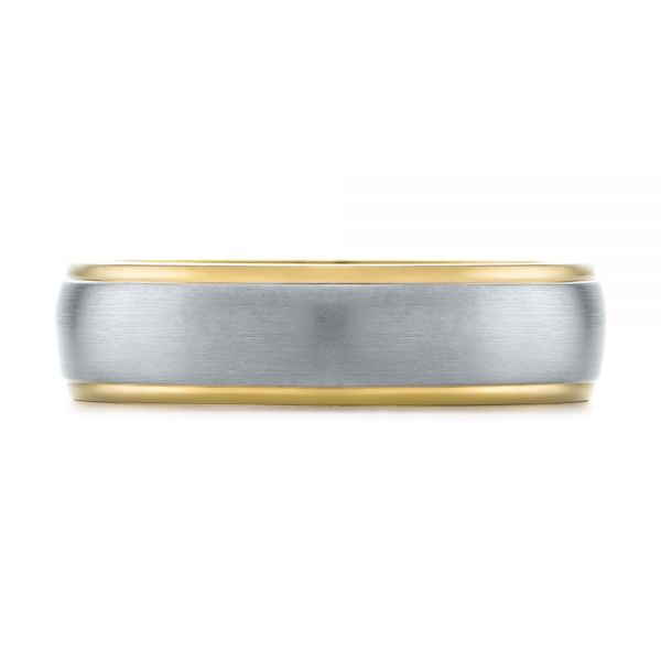 Men's Wedding Ring - Top View -  103811 - Thumbnail