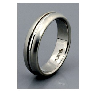 Men's White Gold Band - Samuel Jewels