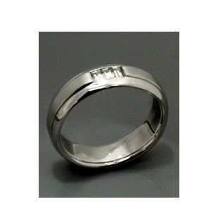 Men's White Gold and Diamond Band - Samuel Jewels