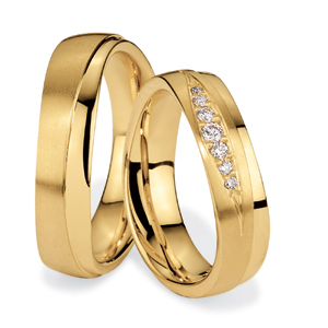 Men's Yellow Gold and Diamond Band
