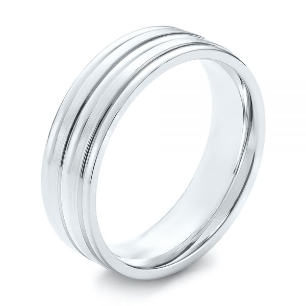 Modern Men's Wedding Band - Image