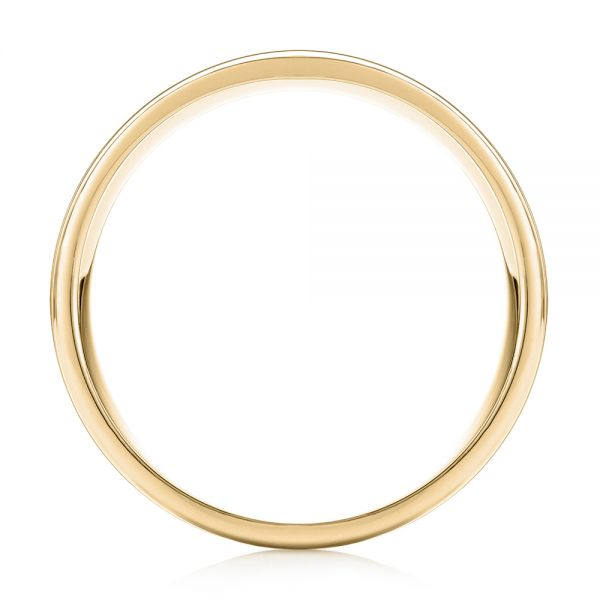 18k Yellow Gold 18k Yellow Gold Modern Men's Wedding Band - Front View -  103023
