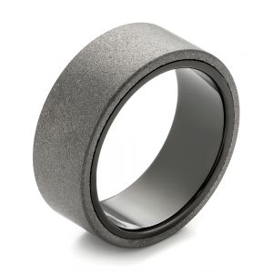 Raw Tungsten Carbide Men's Wedding Band