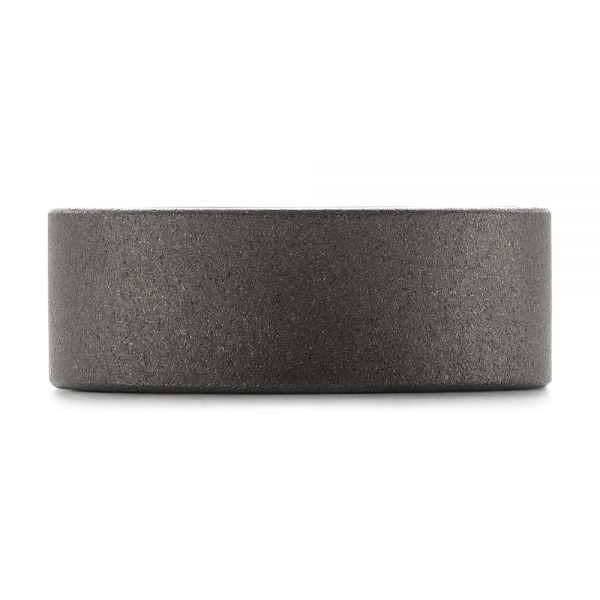 Raw Tungsten Carbide Men's Wedding Band - Top View -  103883 - Thumbnail