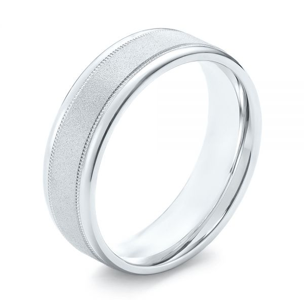 Sandblasted Men's Wedding Band - Image