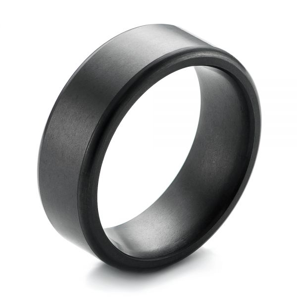 Solid Diamond Men's Wedding Band