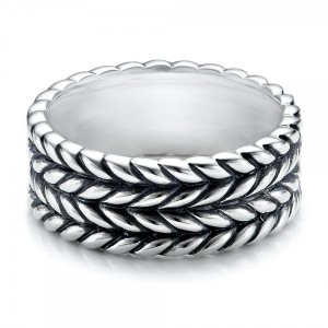 Men's Sterling Silver Braided Band