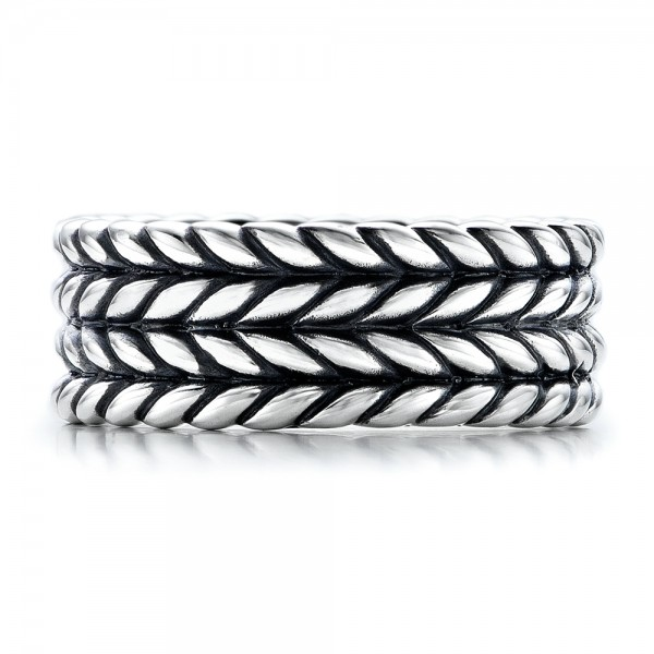 Men's Sterling Silver Braided Band - Top View