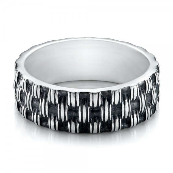 Men's Sterling Silver Woven Band -   -  101210