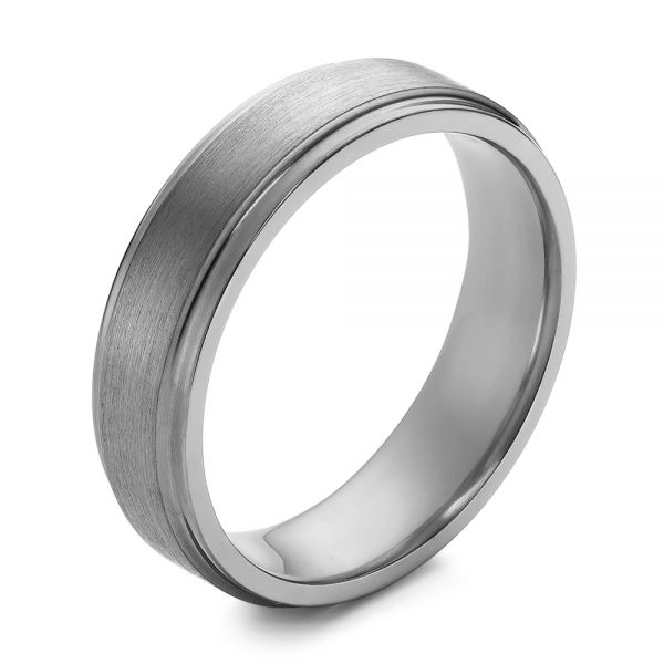 Tantalum Men's Wedding Band - Image