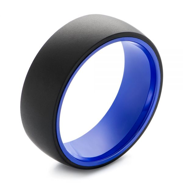 Tungsten Blue Ceramic Band - Image