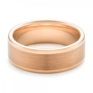 Rose Tungsten Satin Finish Men's Wedding Band