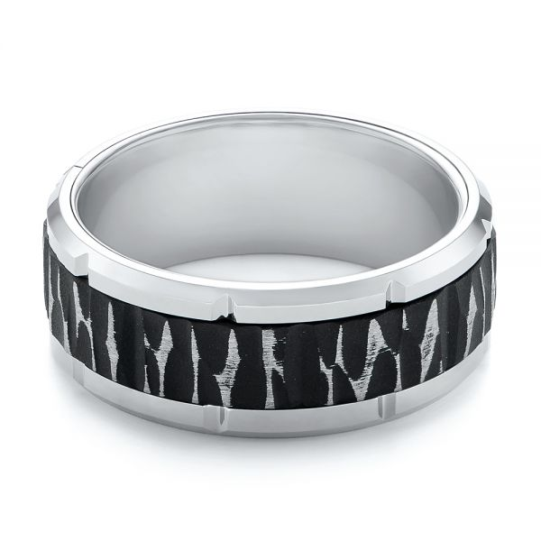 Tungsten Men's Wedding Band - Flat View -  103868
