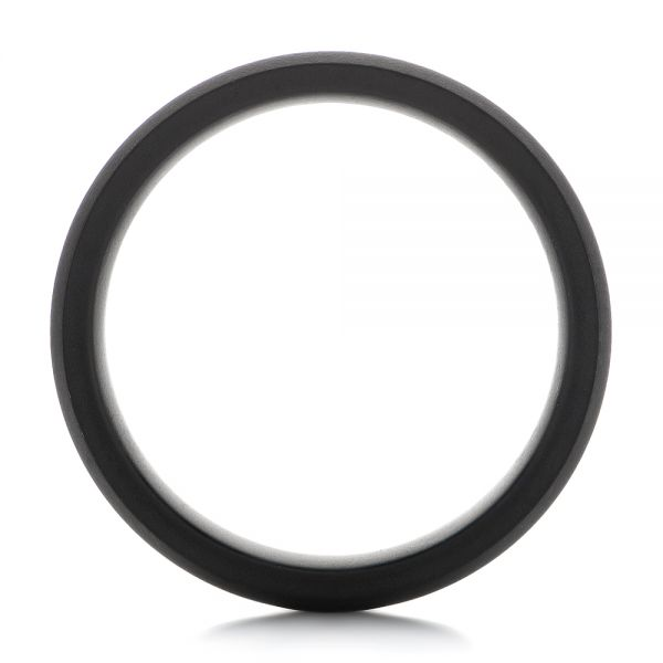 Tungsten Raw Black Beveled Edge Band - Front View -