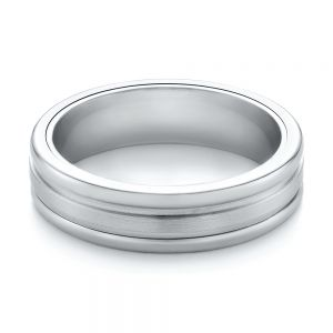 Tungsten and White Gold Men's Wedding Band