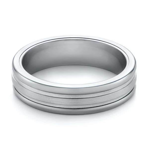 Tungsten Men's Wedding Band - Flat View -
