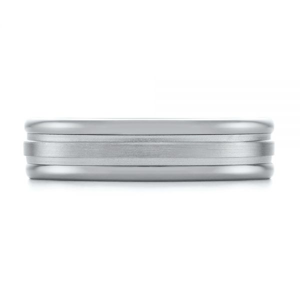 Tungsten and White Gold Men's Wedding Band - Top View -  103921 - Thumbnail