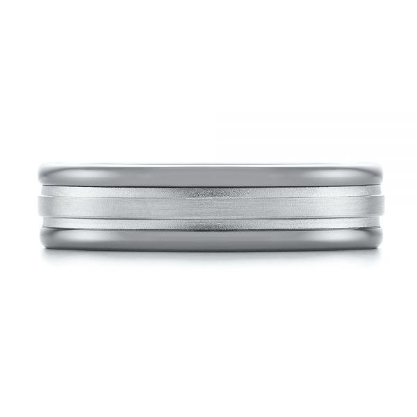 Tungsten Men's Wedding Band - Top View -