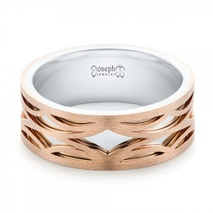 Two-Tone Rose Gold Filigree Men's Band