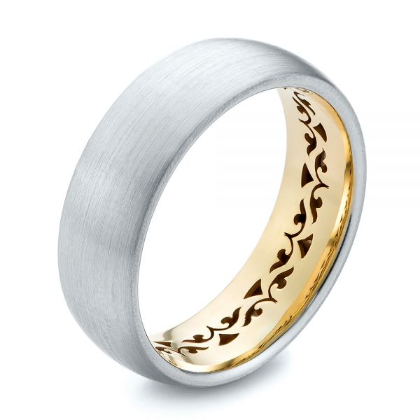 Two-tone Men's Wedding Band