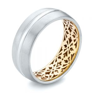 Two-tone Men's Wedding Band - Image